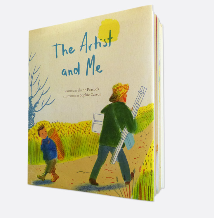 Book cover, The Artist and Me