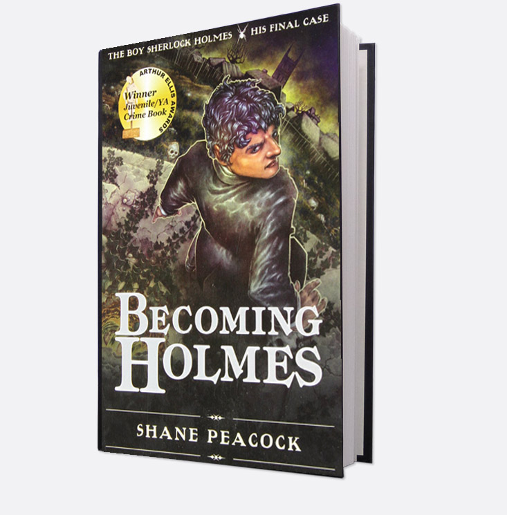 Book cover, Becoming Holmes