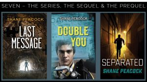 Book covers for Seven – The Series, The Sequel & The Prequel